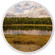 Secluded Lake Round Beach Towel