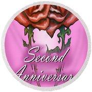 Second Anniversary Round Beach Towel
