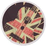 Second British Invasion Round Beach Towel