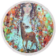 Second Chakra  Angel A Supernova Who Grew Up To Be Stardust Round Beach Towel