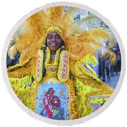 Second Line Nola _ Painted Round Beach Towel