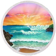 Secret Beach Round Beach Towel