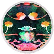 Secret Garden.. Round Beach Towel