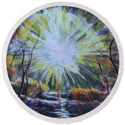 Secret In The Forest Round Beach Towel