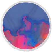 Secret Life Of Clouds Round Beach Towel