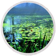 Secret Quiet Pond Round Beach Towel