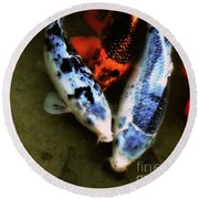Secrets Of The Wild Koi 10 Round Beach Towel