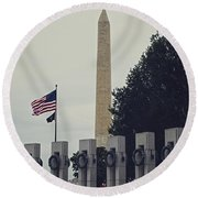 Securing Freedom Round Beach Towel
