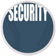 Security Round Beach Towel