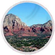 Sedona Arizona City Scape Round Beach Towel