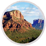 Sedona Buttes Round Beach Towel