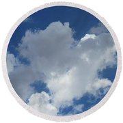 Sedona Heart Cloud Round Beach Towel