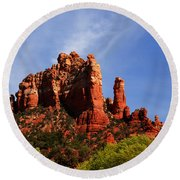 Sedona Rocks Round Beach Towel
