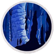 See America, Inside Cave Round Beach Towel