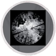 See Of Darkness Round Beach Towel