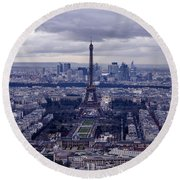 See Paris As Birds Do Round Beach Towel