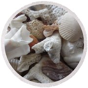 See Sea Shells Fom The Sea Round Beach Towel