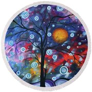 See The Beauty Round Beach Towel