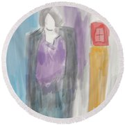 See The Light Round Beach Towel
