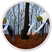 See What I Saw - 2d Round Beach Towel
