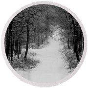 See Where It Leads. Round Beach Towel