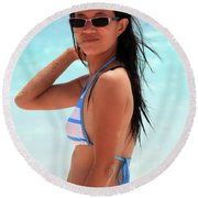 See You A S A P Round Beach Towel