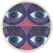 Seeing Double - Tjod 38 Compilation Round Beach Towel