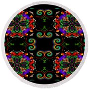 Seeing In Abstraction Round Beach Towel