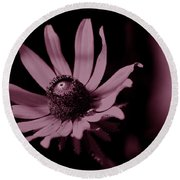 Seeing Life Through Rose-colored Glasses Round Beach Towel