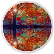 Seeing Red Round Beach Towel