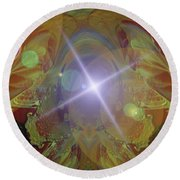 Seeing The Light Round Beach Towel