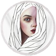 Seeing You Round Beach Towel