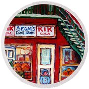 Segal's Market St.lawrence Boulevard Montreal Round Beach Towel