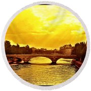 Seine View Round Beach Towel
