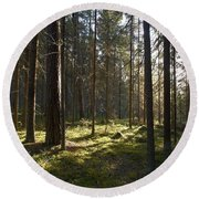 Seitseminen National Park Round Beach Towel
