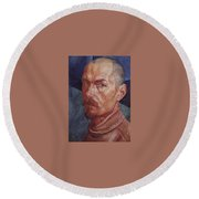 Self 2 1926-1927 Kuzma Sergeevich Petrov-vodkin Round Beach Towel