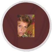 self portrait IV Round Beach Towel