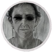 Self-portrait Round Beach Towel
