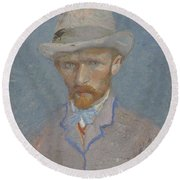 Self-portrait Paris  Summer 1887 Vincent Van Gogh 1853  1890 Round Beach Towel