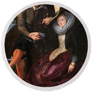 Self Portrait With Isabella Brandt, His First Wife, In The Honey Round Beach Towel