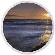 Selkirk Shores Sunset Round Beach Towel