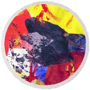 Semi-abstract Collage Round Beach Towel