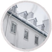 Seminary Of Quebec City In Old Town Round Beach Towel