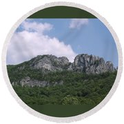 Seneca Rocks Round Beach Towel