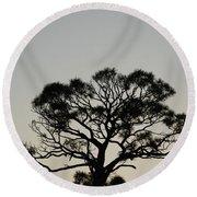 Senset Trees Round Beach Towel