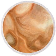 Sensual Disintegration Round Beach Towel