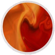 Sensual Love Round Beach Towel by Linda Sannuti