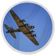 Sentimental Journey In Flight Round Beach Towel