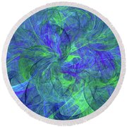 Sentimental Nature Abstract Round Beach Towel