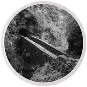 Sentry Bridge At Watkins Glen Round Beach Towel